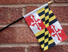 HAND WAVING FLAG (SMALL) - Maryland